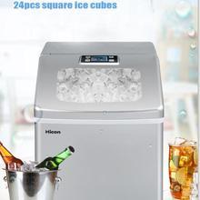 Машина для приготовления льда дома небольшой автомат для льда Большой Ёмкость 25 кг/24 ч льдогенератор для торговых предприятий молока Чай магазин