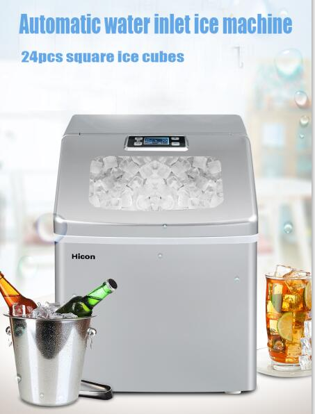 Ice Maker Home Small Automatic Ice Machine Large Capacity 25kg/24h Ice Machine Commercial Milk Tea Shop