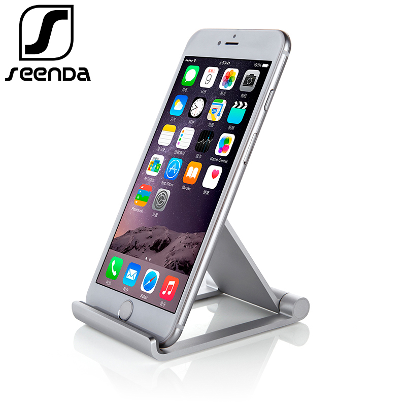 Seenda Foldable Phone Holder For IPhone X 8 Universal Metal Tablet Stand Desk Holder Stand For Smartphone Samsung Huawei Xiaomi
