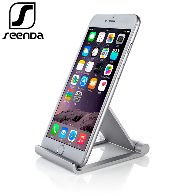 best sneakers 9c7d1 15188 US $8.72 25% OFF|Seenda Foldable Phone Holder for iPhone X 8 Universal  Metal Tablet Stand Desk Holder Stand for Smartphone Samsung Huawei  xiaomi-in ...