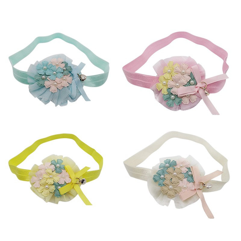 Bébé filles fleur dentelle mignon fleur Heldband perle FLorLL chapeaux couronne photographie Prop fête cadeau pour les filles