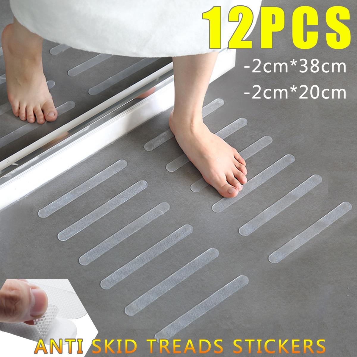 Beau 12Pcs Bathroom Tub Shower Anti Slip Stair Tread Clear Tape Waterproof  Strong Floor Safety Mat Grip