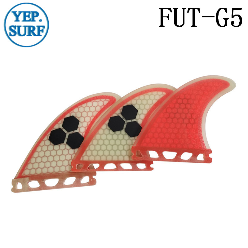 Surfboard Fin Future G5 Fin Quilhas Light Red Fiberglass Surf Fin - Ջրային մարզաձեւեր - Լուսանկար 1