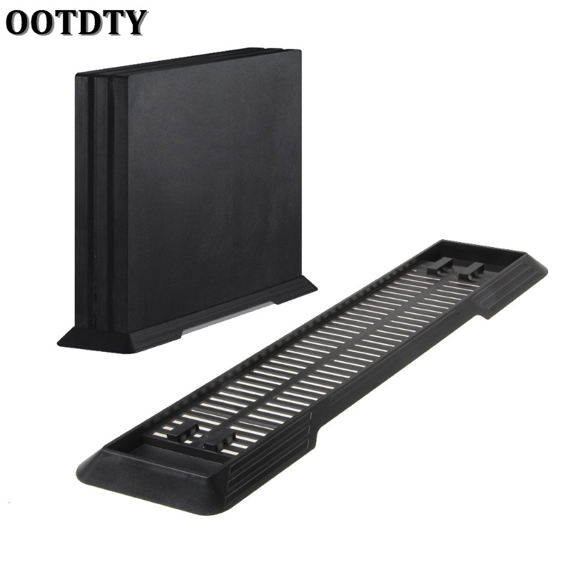 OOTDTY Anti-Slip Vertical Stand Mount Dock Holder For Sony PlayStation 4 PS4 Pro Console