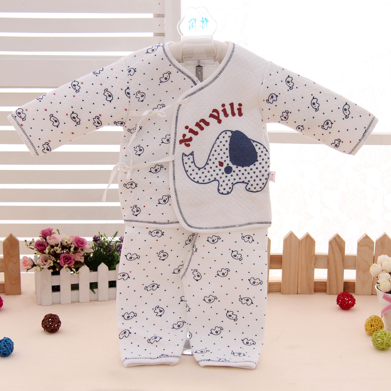 aed059a986cfb 2 sets  lot Baby wear new born baby wear elephant print cotton baby clothing  sets babes clothes online shop.Free shipping-in Clothing Sets from Mother  ...