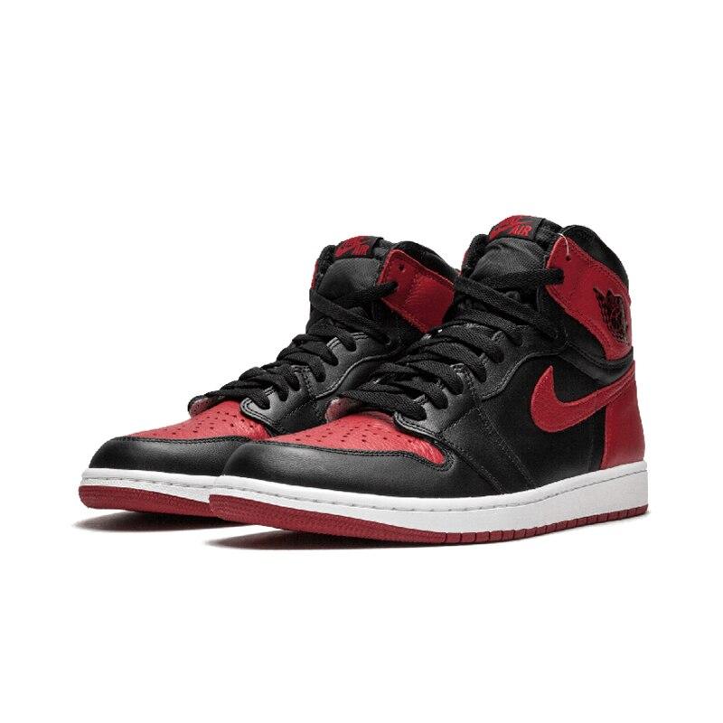 e3cd99e29511 Nike Air Jordan 1 OG Banned AJ1 Original New Arrival Breathable Mens  Basketball Shoes Comfortable Sneakers For Men Shoes -in Basketball Shoes  from Sports ...