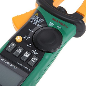 Image 3 - Original MASTECH MS2008B Auto Manual Range Digital Clamp AC Volt Current Res Cap Temp Freq Meter Free shiping