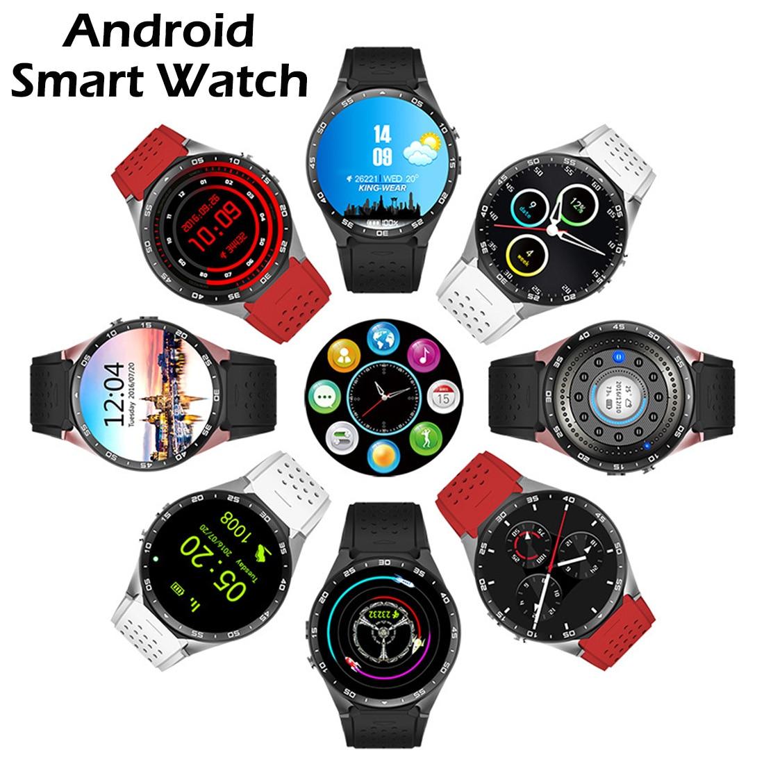 Original KW88 Android 5.1 1.39'' Screen 3G Smartwatch MTK6580 Quad Core 512MB 4GB GPS Pedometer Positioning Smart Watch Men