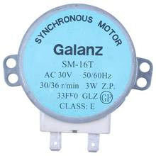 Sm-16t ac 30v 3.5 / 4w 30/36 r/min synchronous motor for Galanz microwave oven(China)