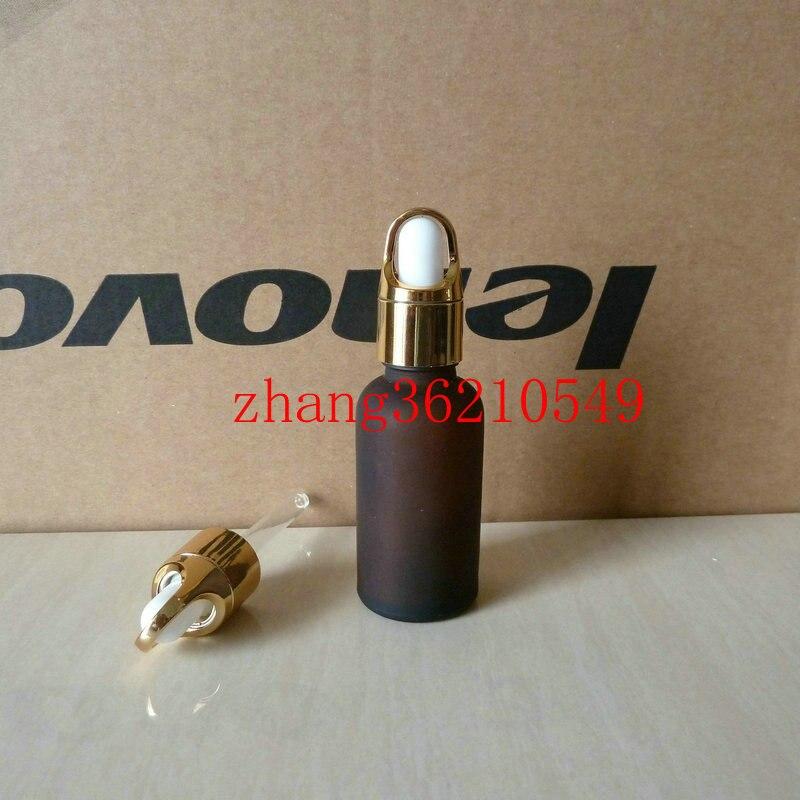 50 pcs lote 30 ml marrom ambar frasco de oleo essencial de vidro fosco com tampa
