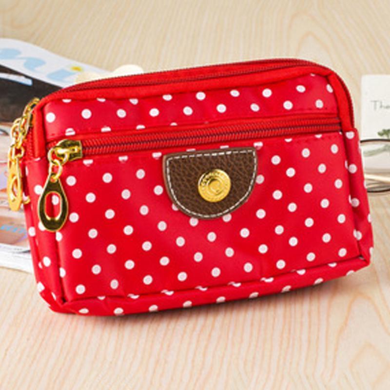 Vintage Polka Dots Women Wallets Female Purse Card Holder Carteiras Femininas Money Bag Ladies Clutch Wallets Hot Makeup Bag #22