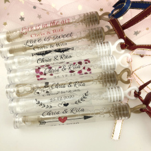 100 pcs/set Personalized Wedding bubble Labels,Bubble Wand Label Clear,party Favor Stickers(not include tube