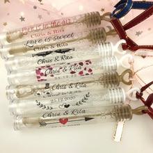 100 unids/set etiquetas de burbuja de boda personalizadas, etiqueta de varita de burbuja transparente, pegatinas de Favor de fiesta (no incluye tubo)
