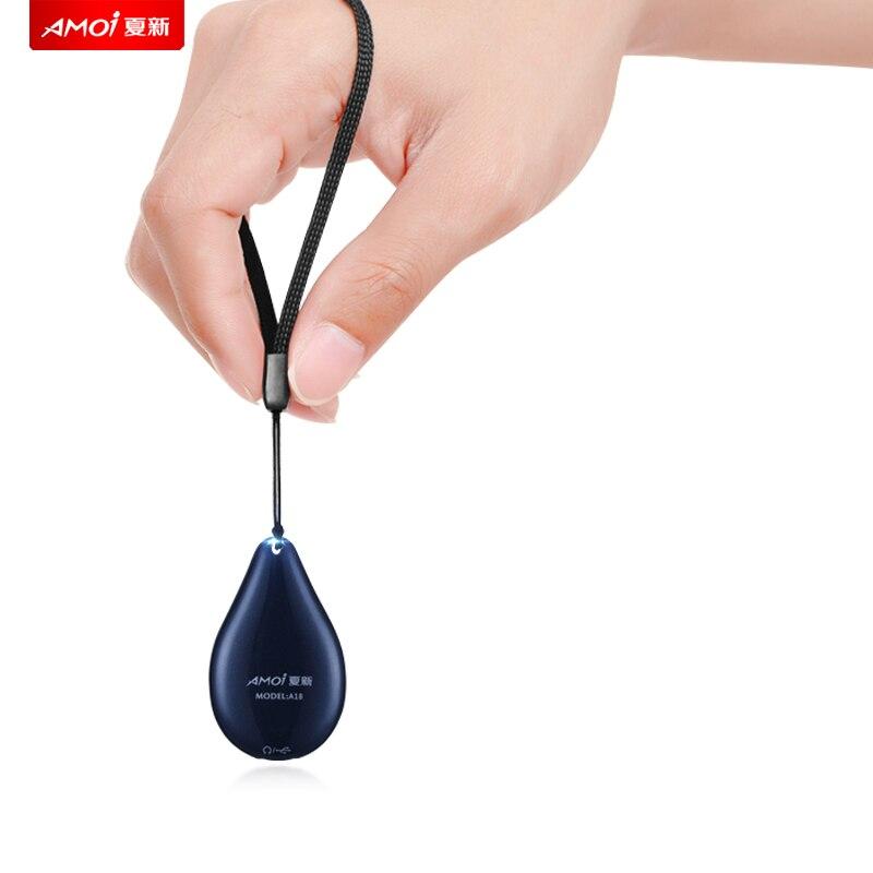 Yescool A18 espiar Mini Furtif Pendentif numérique Enregistreur vocal audio greffier Voix Activé Clear Bruit Réduction Dictaphone