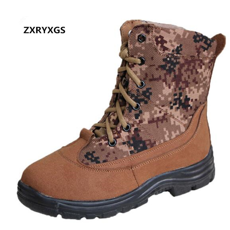 ZXRYXGS Brand Warm Comfort Fur One Wool Men Shoes Snow Boots 2018 Newest Winter Matte Genuine Leather Boots Men Boots Plus Size cimim brand new fashion genuine leather boots men ankle boots casual warm winter snow warm fur boots men shoes plus size 39 50