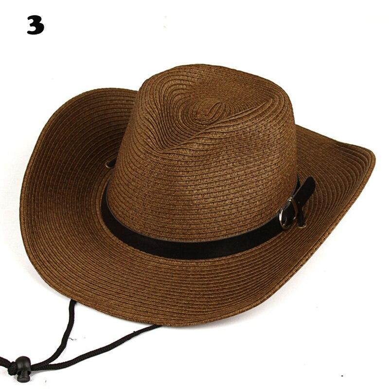 8d1adee68c US $7.39 18% OFF|Men Women Fashion Western Cowboy Hat Gentleman Cowgirl  Jazz Church Sombrero Sun proof Caps Retro Vintage Panama Cap Trendy-in  Cowboy ...