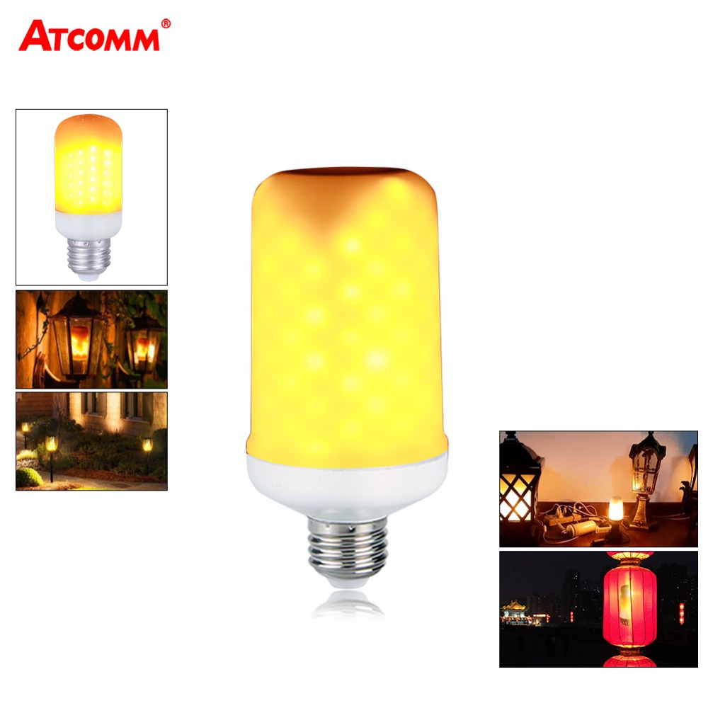 Light Bulbs Fashion Style Ampoule Led Flame Lamps E14 E27 E26 B22 85-265v Dynamic Flame Effect Led Light Corn Bulb Smd 2835 2 Modes Led Diode Vuur Lamp Durable In Use