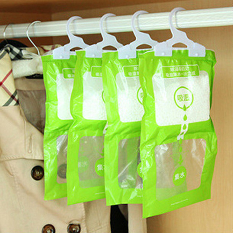 Desiccant Packets Moisture Absorbent Bag Hanging Wardrobe Closet Dehumidizer Desiccant Bag Household Cleaning Tools