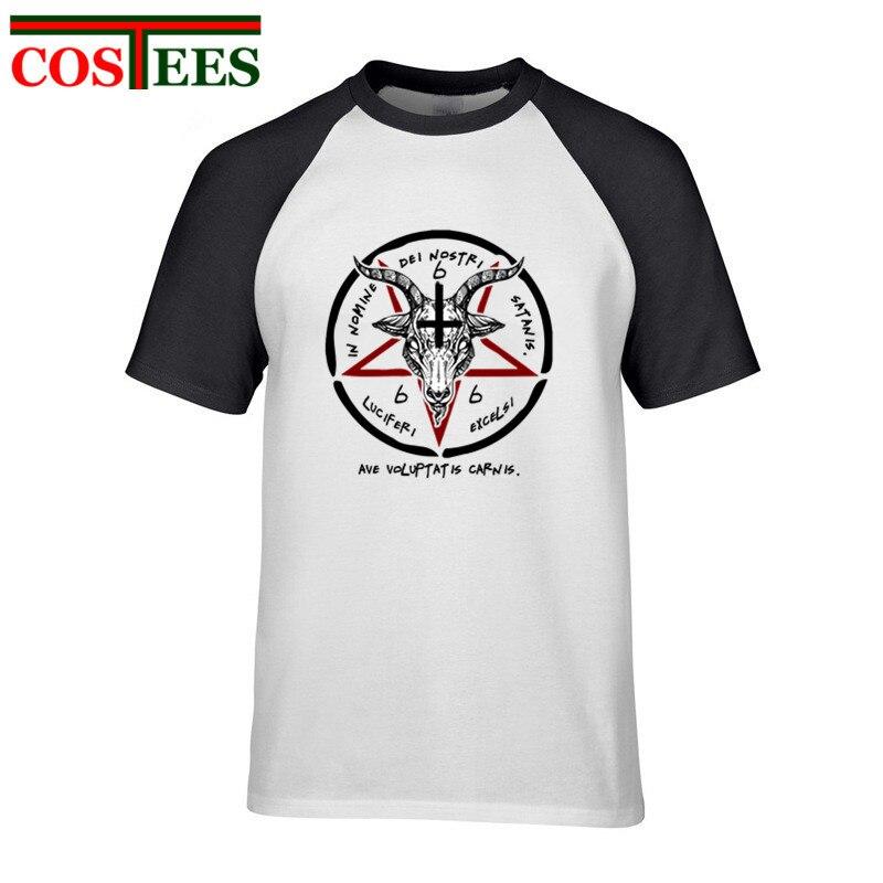 BAPHOMET T SHIRT BAPHOMET SIGIL OF SATAN THE GOAT HEAD GOD SHIRT THE OCCULT SATANIC AND OCCULT Funny T-Shirt Men Baphomet shirts