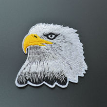 free shipping 7.5cm*7.5cm white eagle applique Iron On Patches 1 PCS high quality