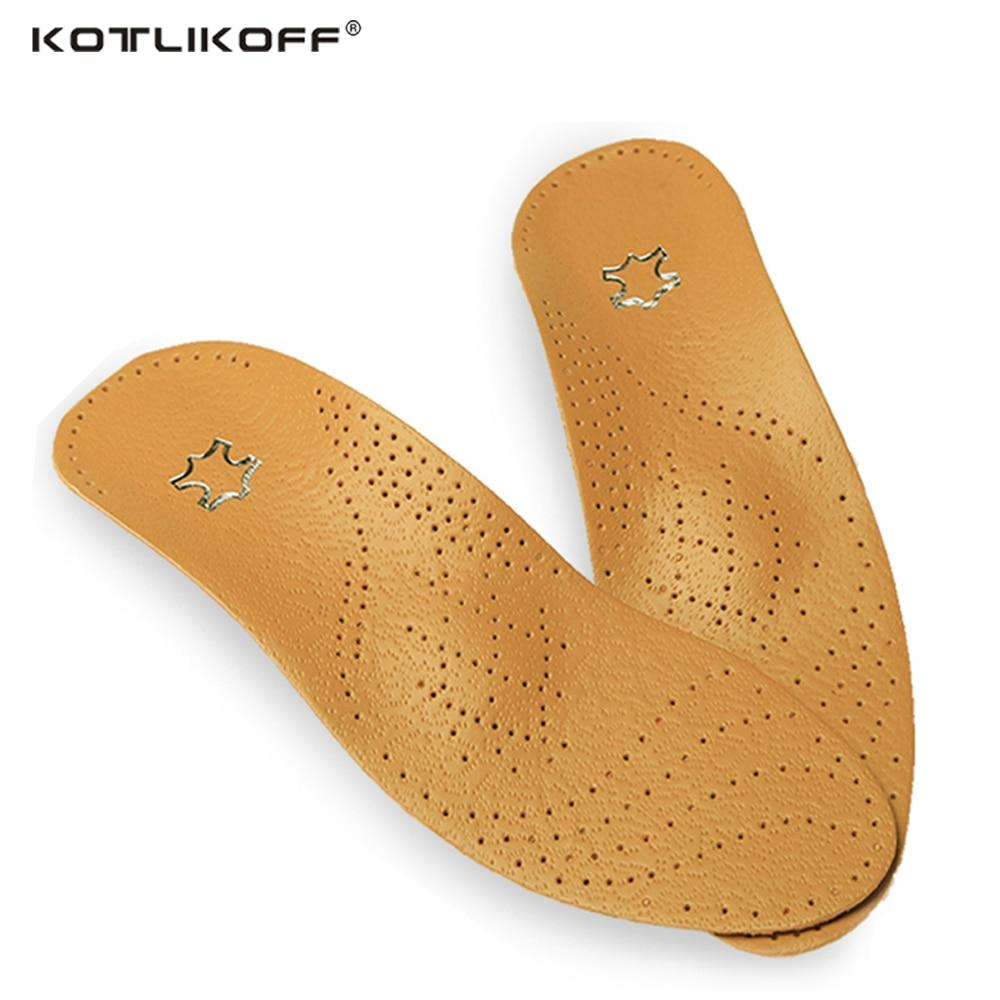 KOTLIKOFF Haute qualité En Cuir orthèses Semelle pour Flat Foot Arch Support 25mm orthopédiques Semelles En Silicone pour hommes et femmes
