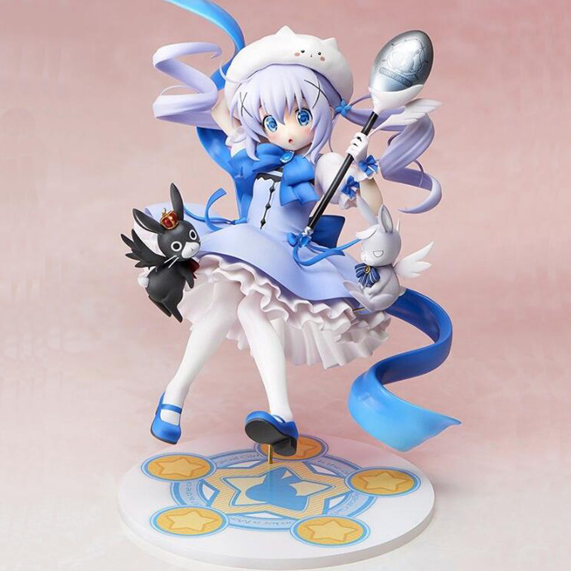 Anime figure Is The Order A Rabbit Kafuu Chino 1/7 scale painted action figure model collection 21cm toy gift