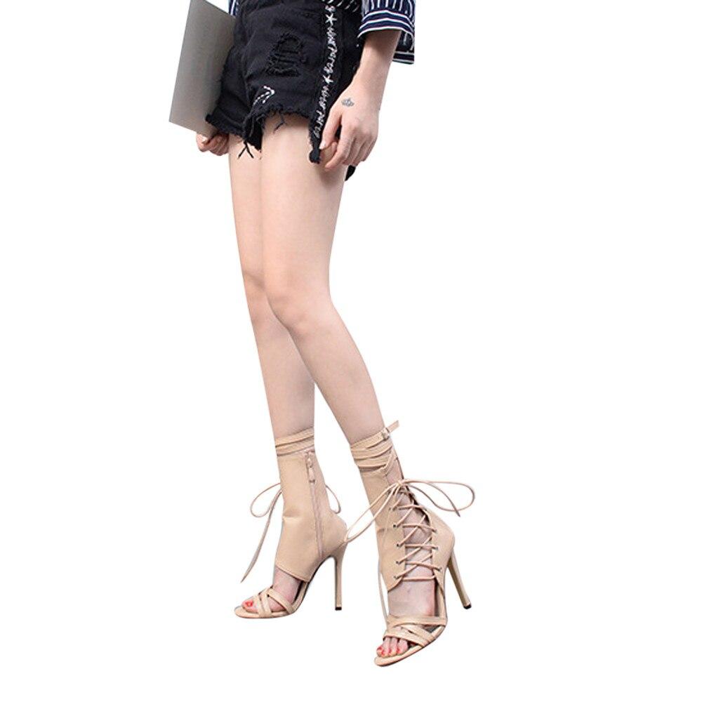 Tallone Di Qualità Solido Scarpe Tacco Toe Sandali 35 Open Legato Stile Croce Alta Modo A Alto Donne Progettista Colore Col Roma 43 Delle Dell'alto b Lusso vrxwrIqC5
