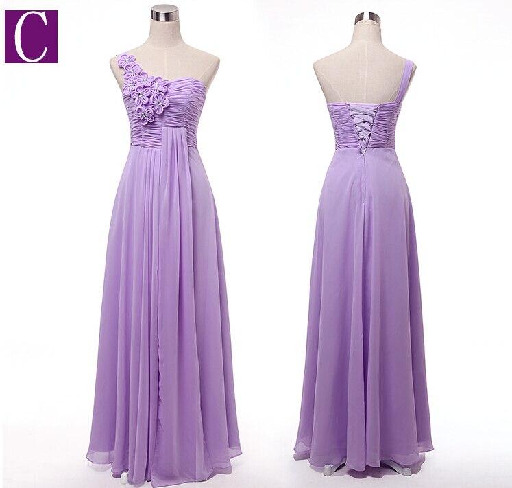 2019 sexy longue une épaule formelle élégant violet clair grande taille équipée occasion spéciale bal de promo robes pour les femmes H2742 - 3