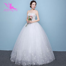 AIJINGYU 2018 bridal free shipping new hot selling cheap ball gown lace up back formal bride dresses wedding dress WK450(China)