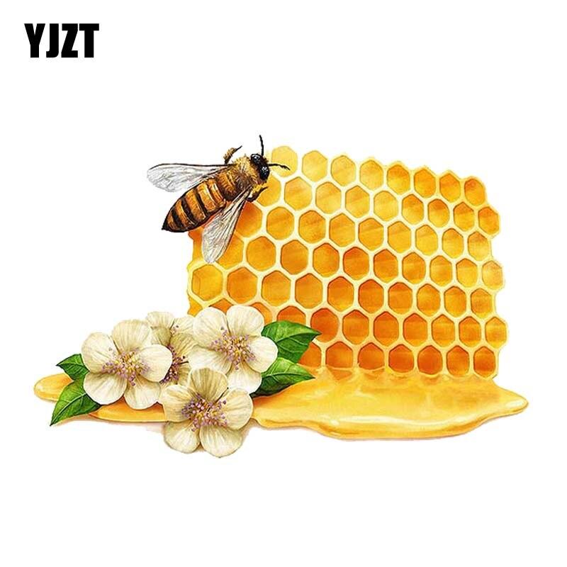 YJZT 15CM*9.7CM Delicious Honey Decal Car Sticker PVC 12-300599