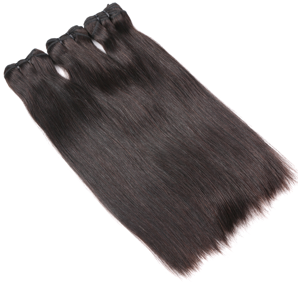 Halo Hair Brazilian Virgin Hair Weaves Natural Straight 100% Human Hair Weave Bundles Unprocessed Hair Weaving Extension