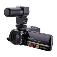 HDV-301M 1080 P 16X Zoom Kỹ Thuật Số 3 Inch Màn Hình Cảm Ứng Xách Tay MÀN HÌNH LCD HDV Máy Quay Video Với Microphone Đen