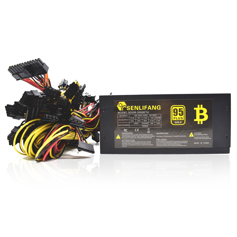 2000W ATX Computer Power Supply For Mining Machine Support 8 Pieces Graphics Card Original New цена