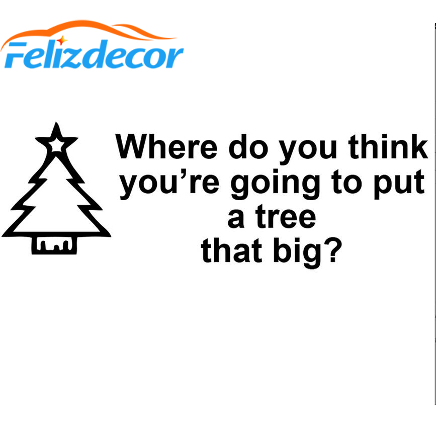Christmas Vacation Quotes Tree.Us 1 58 40 Off 25 9cm Funny Mini Christmas Tree Vinyl Sticker Vacation Car Decal Xmas Art Decor Happy Christmas Quotes White Black L714 In Car