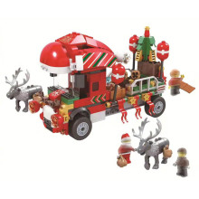 2019 New Christmas Sets Santa Village Train Hot Air Balloon Compatible Legoing Model Building Kits Blocks Bricks Kids Toys Gift цена в Москве и Питере