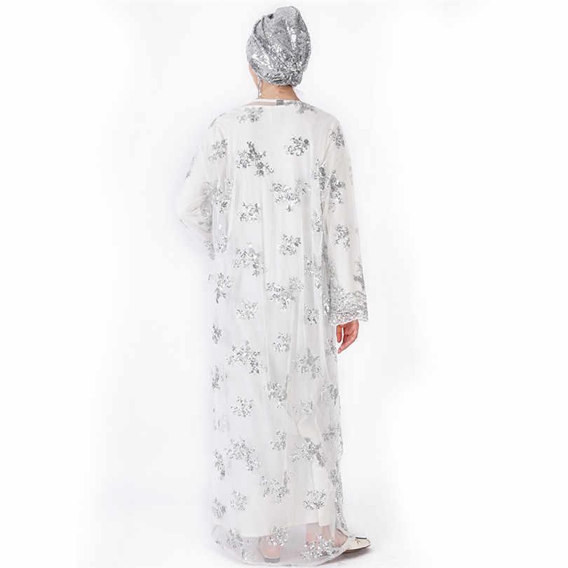 Abito musulmano Abaya Abbigliamento Islamico Per Le Donne Malaysia Jilbab Djellaba Robe Musulmane Turco Baju Kimono Caftano Tunica L212