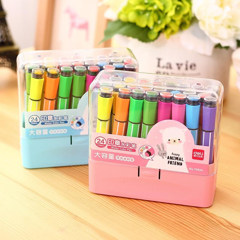Горячие продажи Эффективных дети подарочные школа suppy детей искусство маркер с уплотнение может промывочной воды цвет пера для детей живоп...