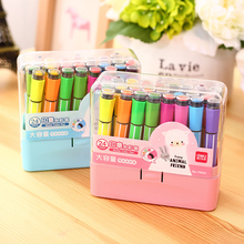 hot sales Effective kids gift school suppy children art marker with seal can wash water color pen kids painting pen with seal