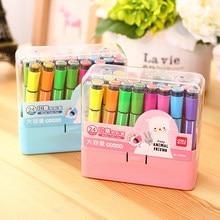 Hot vendas Eficaz suppy escola caçoa o presente crianças art marcador com selo pode lavagem com água caneta cor da pintura dos miúdos caneta com selo