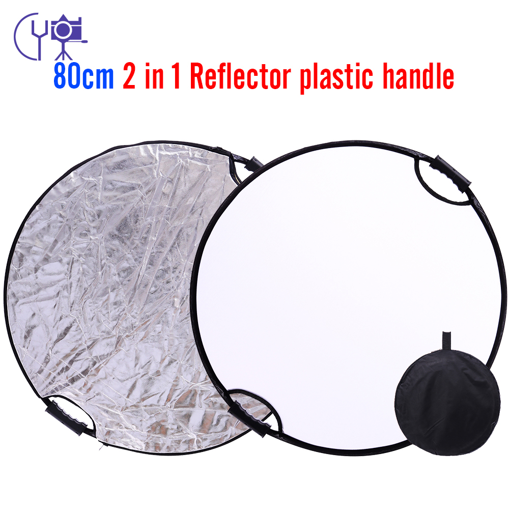 CY 32 80cm 2 in 1 Round Photography/Photo Reflector Portable Collapsible Light Round Reflector with Zipped Round Carrying Bag