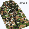 2016 New Men's Camouflage Shirt Fashion Jungle Military Style Mens Shirts Army Green Mens Long Sleeve Camouflage Shirts