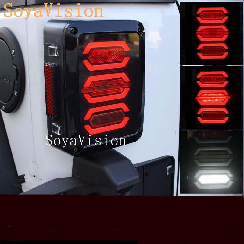 Wrangler Tail Light Black Wrangler JK LED Brake Tail Lights Assembly with Rear Turn Singal For