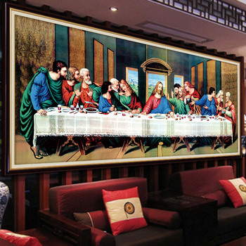 Meian 3D DIY Diamond Embroidery,5D Diamond painting,Diamond mosaic,Last supper,needlework,Crafts,Christmas,decor 2