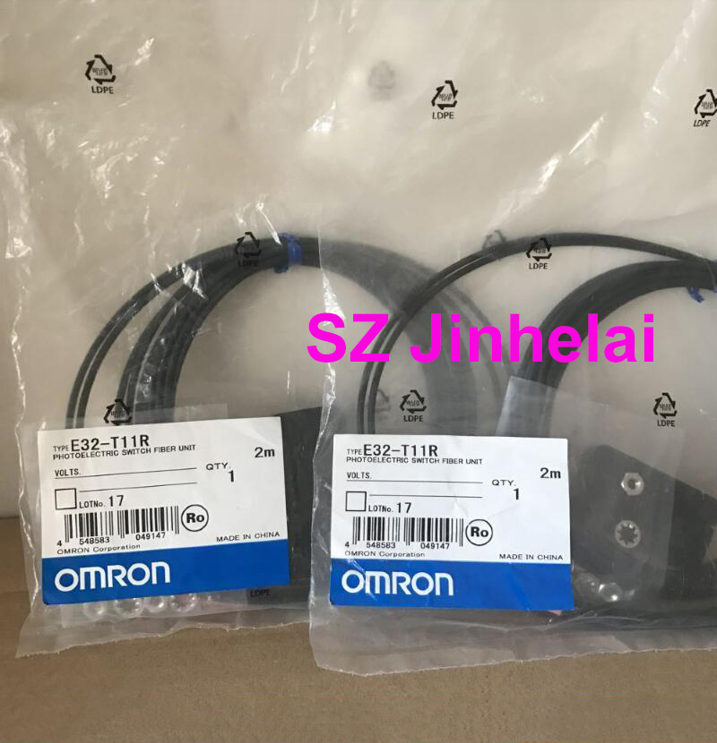 цены Authentic original E32-T11R OMRON PHOTO ELECTRIC SWITCH FIBER UNIT 2M