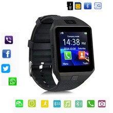 bcaebedce Bluetooth DZ09 reloj inteligente soporte 2G SIM Max 8G TF tarjeta cámara  para Android apple ios niños mujeres reloj teléfono con.