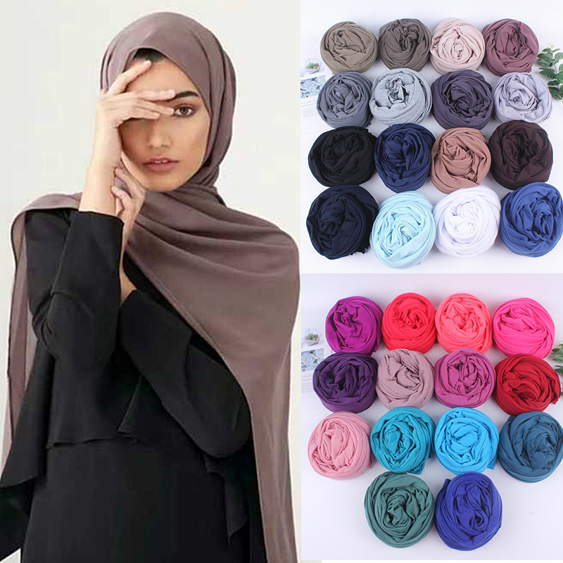 winter women plain knitted   scarf     wrap   female pashimina solid shawls Neckerchief Autumn Foulards Muslim Hijab Sjaal 10pcs/lot