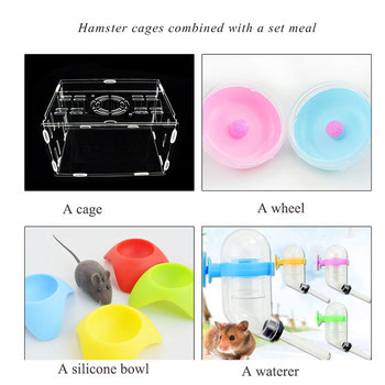 SMARTPET Acrylic Transparent Hamster House Small Pet Cage Mouse House Castle Hamster Nest with Environmental Material 4