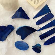 цена Blue Star Side Clip Geometry Hairpin Woman Sweet And Temperament Claws Hair Accessories онлайн в 2017 году