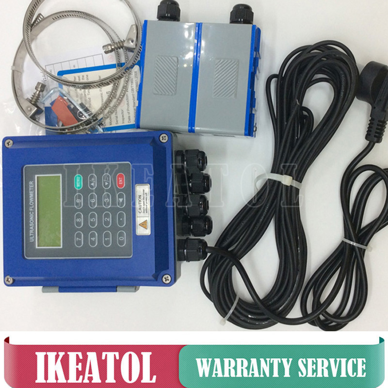 TUF 2000B TM 1 Transducer DN50mm DN700mm Ultrasonic liquid flow meter IP67 protection wall mounted type flowmeters in Flow Meters from Tools