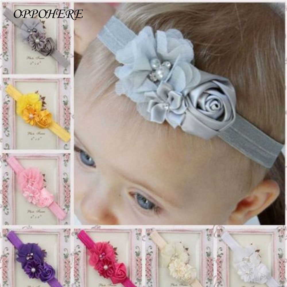 1 Pcs Cute Adorable Children Baby Flower headband Soft Elastic Hair Accessories Band 2017 Hot Sale hot sale hair accessories headband styling tools acessorios hair band hair ring wholesale hair rope